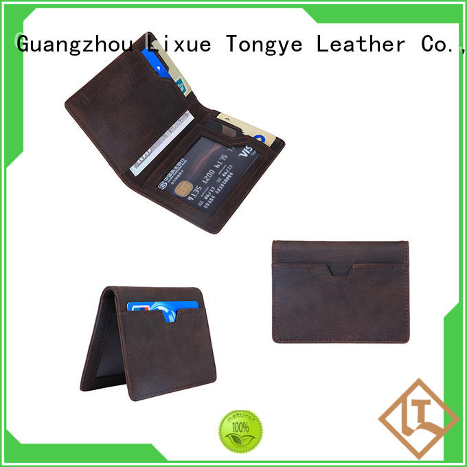 luxucy leather bifold wallet daily used for cash