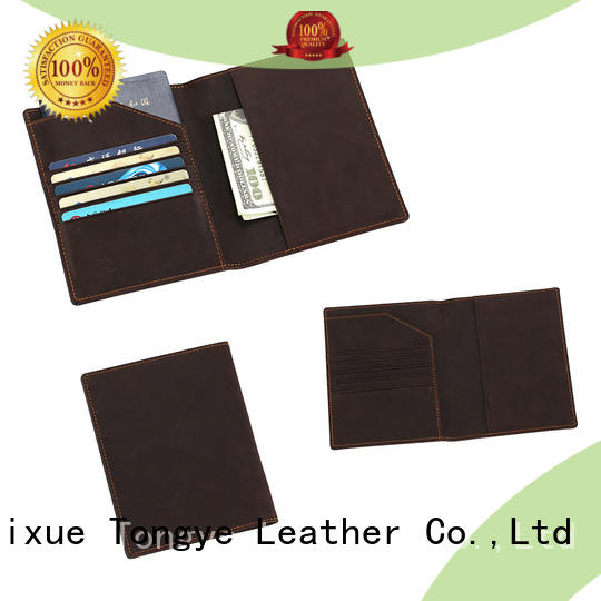 LITONG multi-function leather passport sleeve wholesale for passport