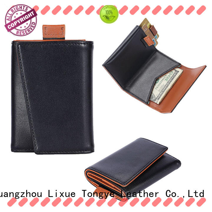 LITONG luxucy thin leather wallet producer for cash