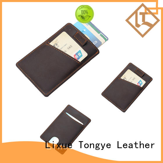 super slim leather id card holder ltbmc090 wholesale for shopping cards