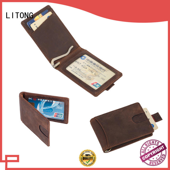 LITONG customized best leather money clip producer for business
