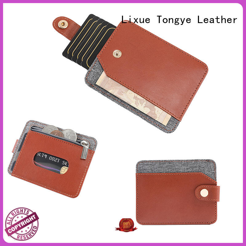 LITONG ltbmc002 leather card holder bulk production for RFID blocking
