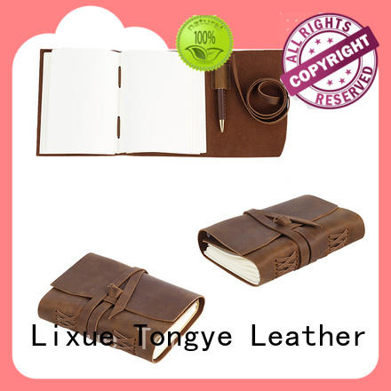 Handmade vintage travel Daily leather journal wholesale Custom leather notebook LT-BMJ016
