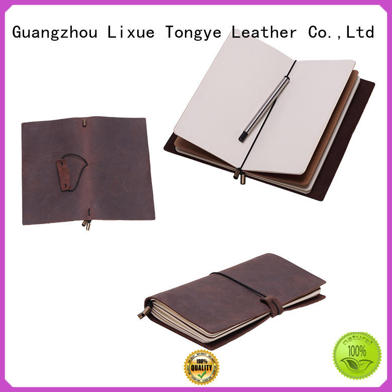 travel refillable LITONG Brand leather bound notebook factory