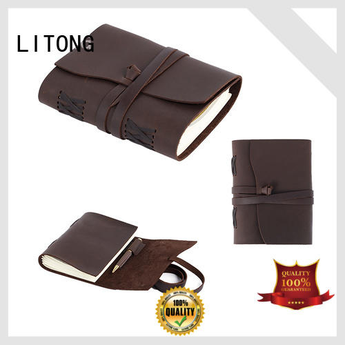 paper vintage leather journals in china for shipping LITONG