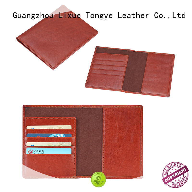 LITONG luxury personalized leather passport holder bulk production for passport