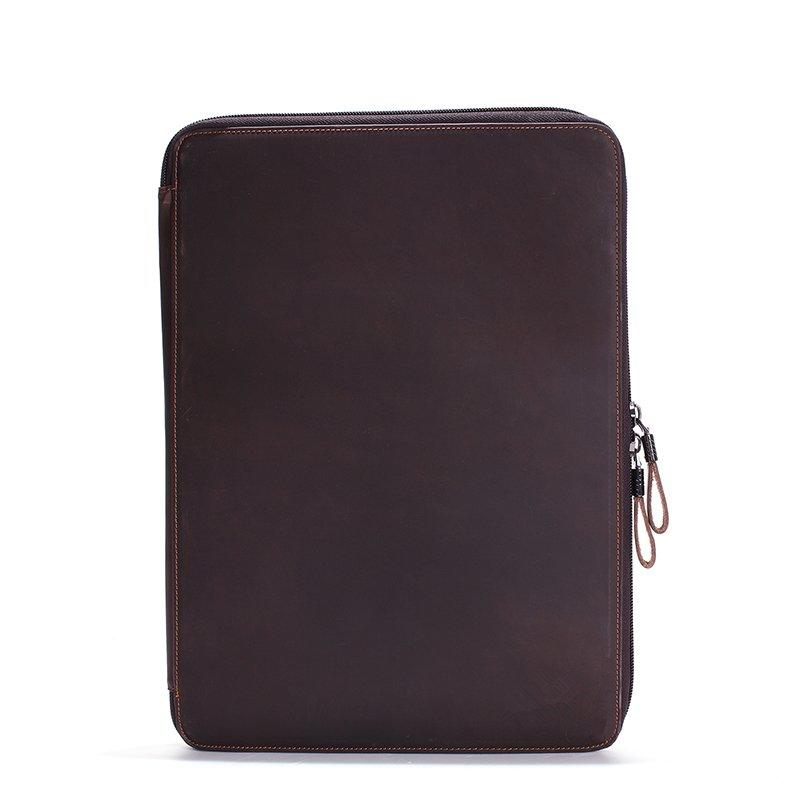 Vintage Leather Laptop Bag Mens Laptop Sleeve Case Leather Bag