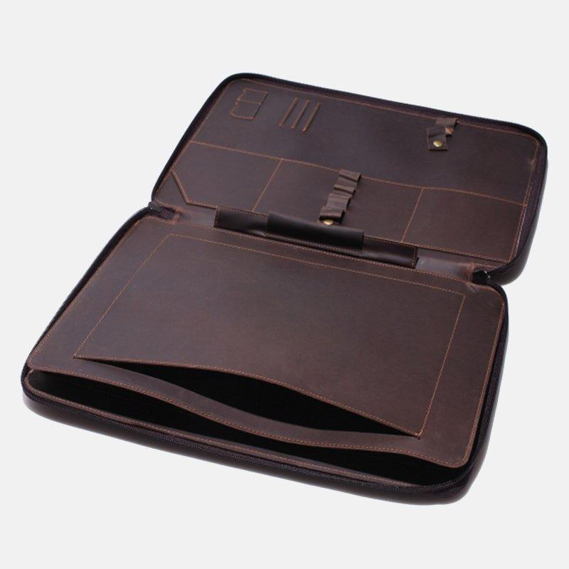 LITONG Brand tobacco travel leather grain leather laptop sleeve