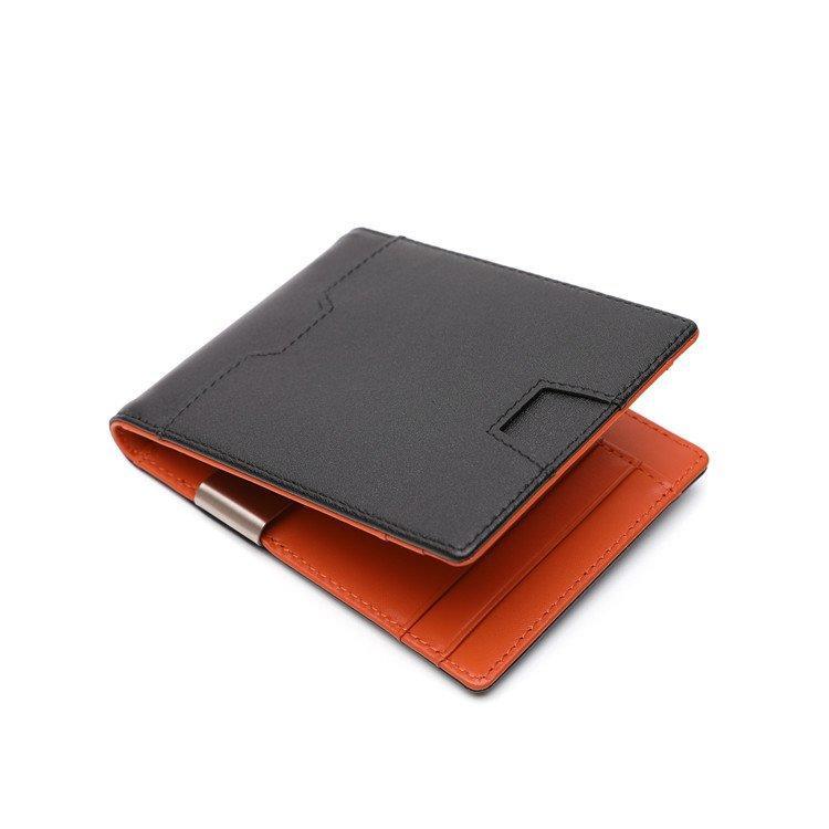 Luxury fashion popular card holder genuine leather money clip wallets mens slim rfid wallet LT-BMW070