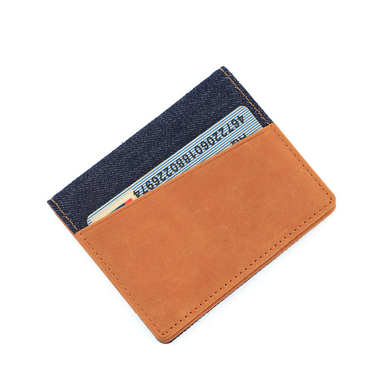 wholesale leather wallet slim credit card holder bifold rfid leather wallet LT-BMC078