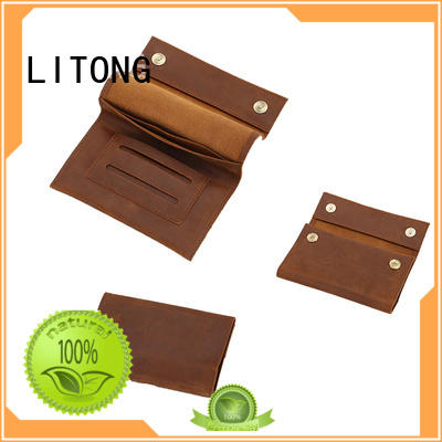LITONG fashion design leather computer case for manufacturer for credit card