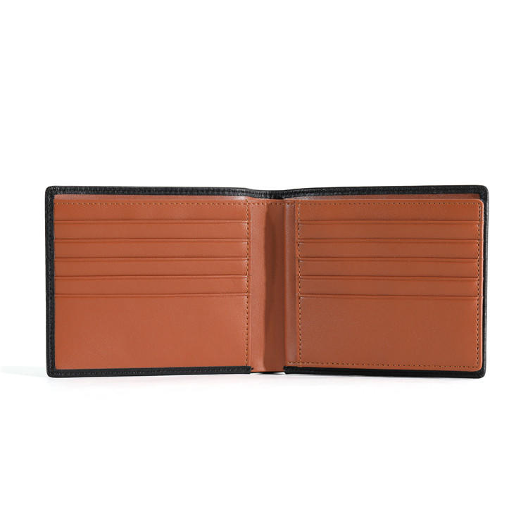 RFID Blocking Cowhide Leather Bifold Wallet for Men with coin pocket LT-BMW074