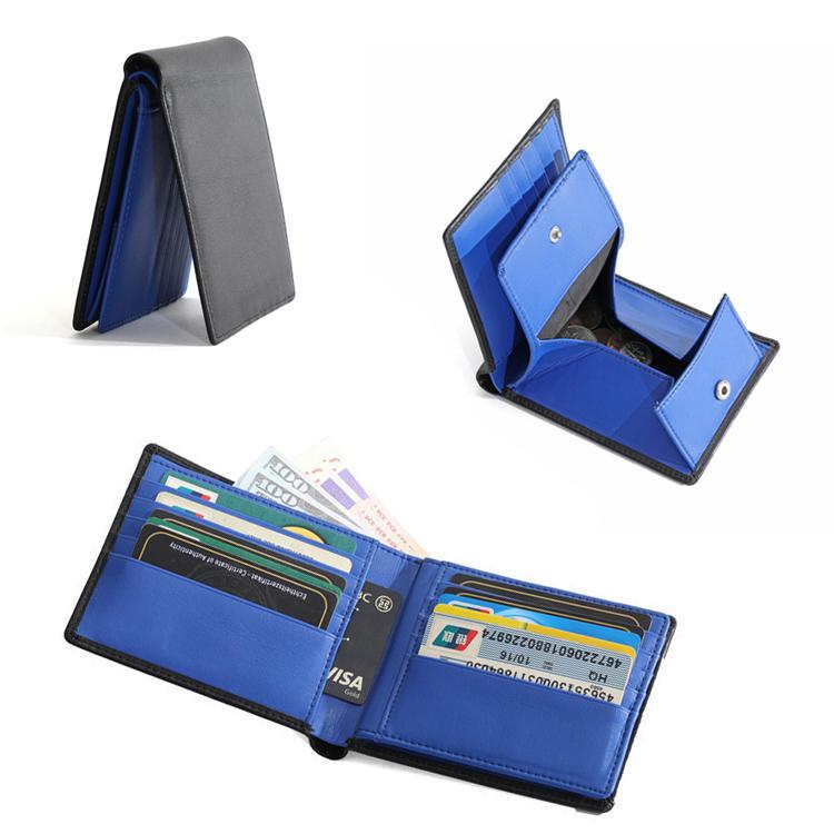 RFID Blocking Wallet for Men - Genuine Leather Bifold Wallet With Coin Pocket LT-BMW075