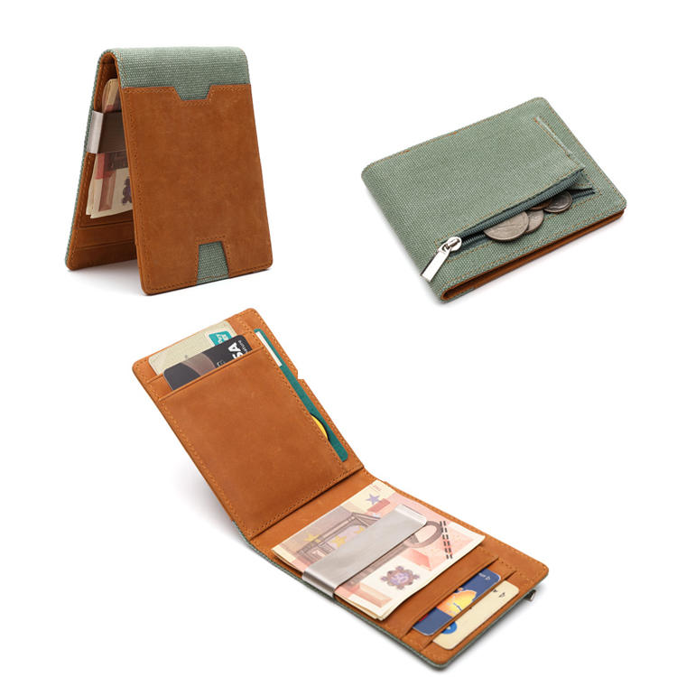 Mens Money Clip Wallets slim Minimalist Wallet Gift Box LT-BMW071