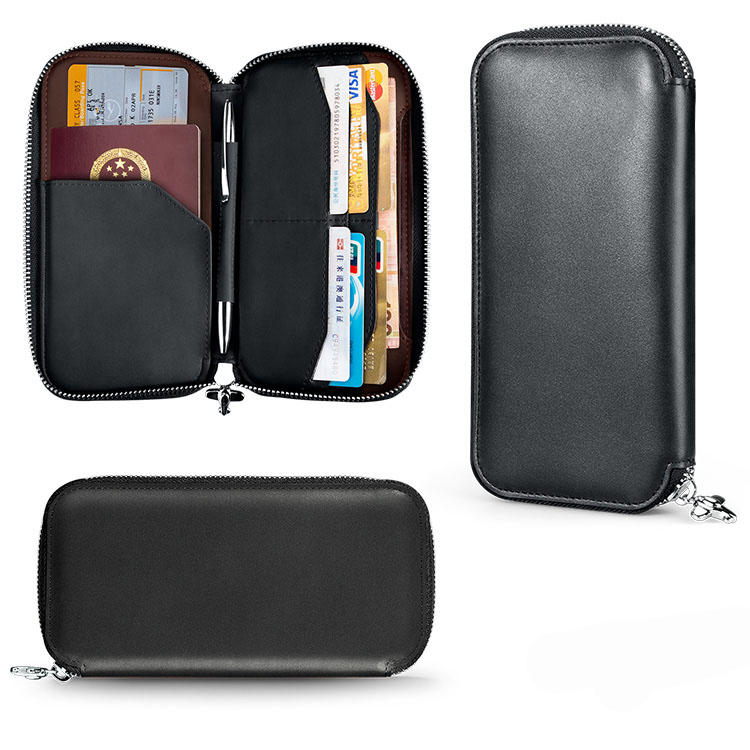 Zipper Passport Holder Wallet Rfid Leather Manufacturer