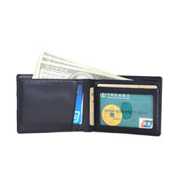 customize leather wallet Money Clip Wallet Leather Wallet Factory LT-BMW078