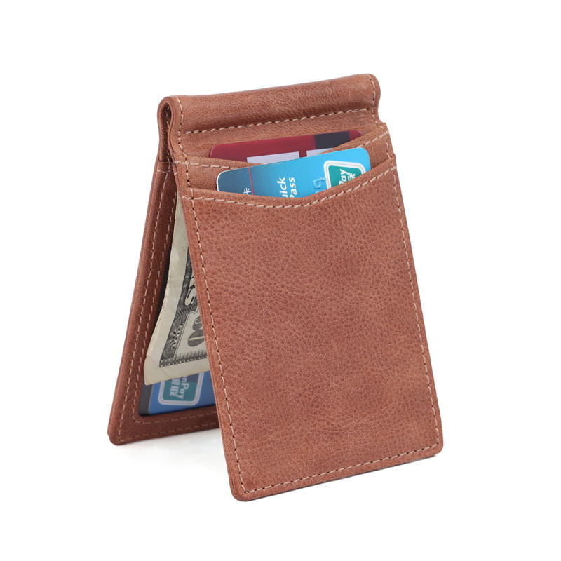 Customized wallet Card Holder Leather Money Clip Wallet Wholesale Leather Manufacturer