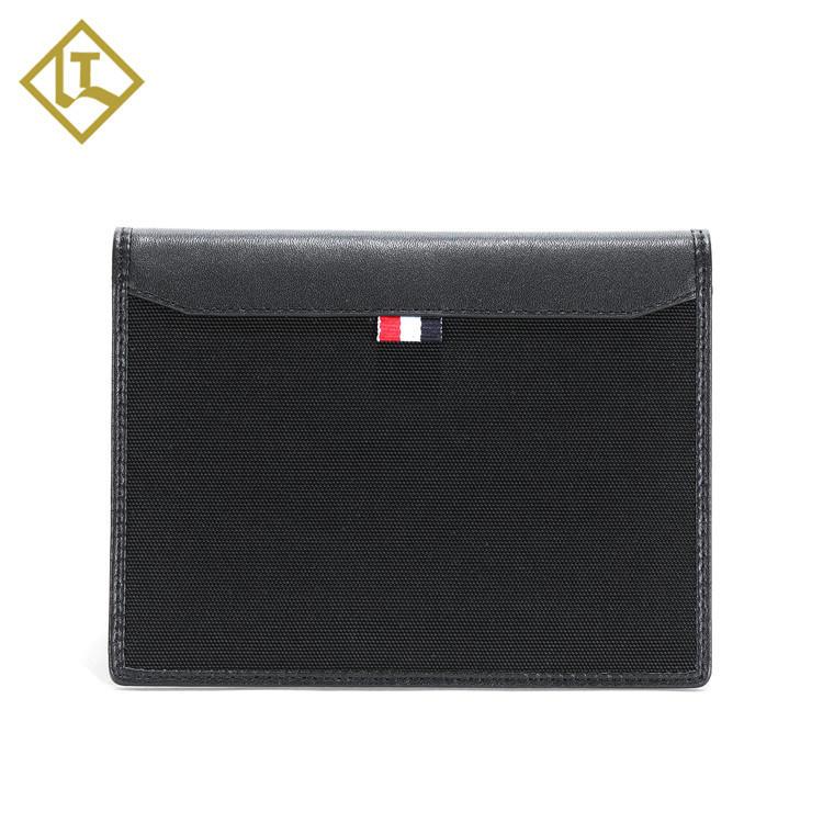 2018 Christmas gift hot selling custom rfid blocking full grain genuine leather nylon passport wallet leather passport cover