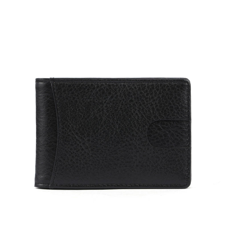 minimalist RFID blocking men's leather travel wallet   LT-BMM025