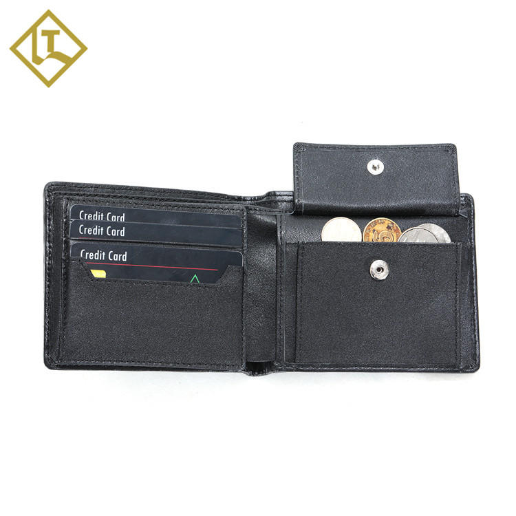Credit card mens slim custom travel mens leather man slim card rfid wallet leather for men canvas leather men's wallet