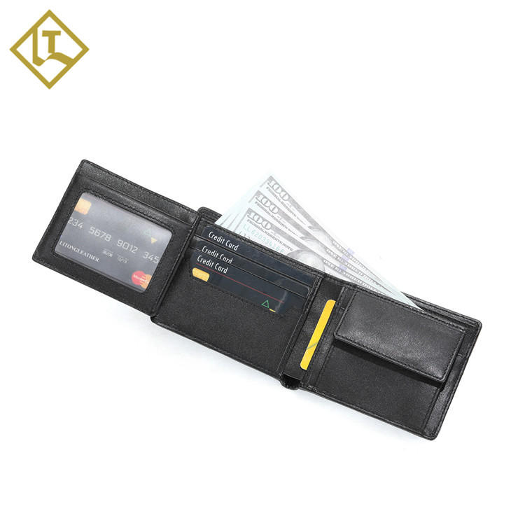 Credit card mens slim custom travel mens leather man slim card rfid wallet leather for men canvas leather men's wallet
