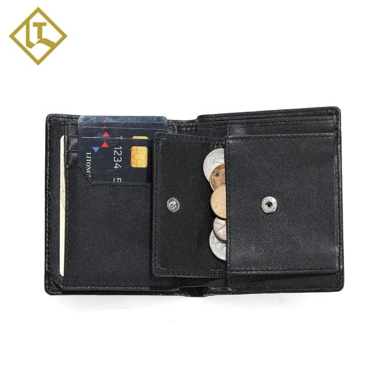 Waterproof Men's Wallet RFID Blocking Bifold Trifold Canvas Leather Slim Wallet with ID Window