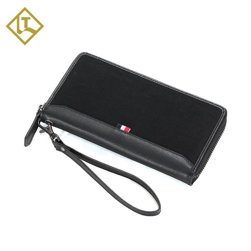 Men Wallet Bifold with Large Capacity Business canvas wallet card holder slim rfid men's leather wallet