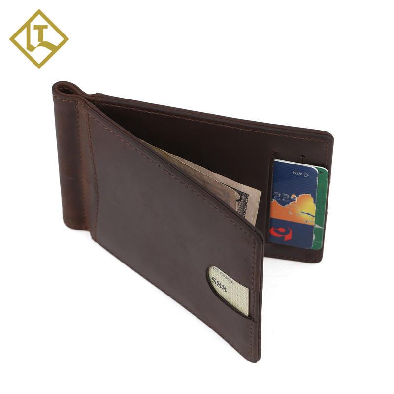 Wholesale Money Clip Leather Wallet Credit Card holder Wallet Manufacturer
