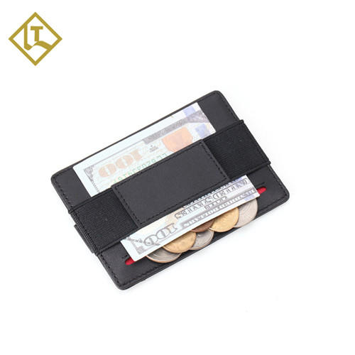 Minimalist Card Holder RFID Wholesale Leather Wallet Factory LT-BMC102
