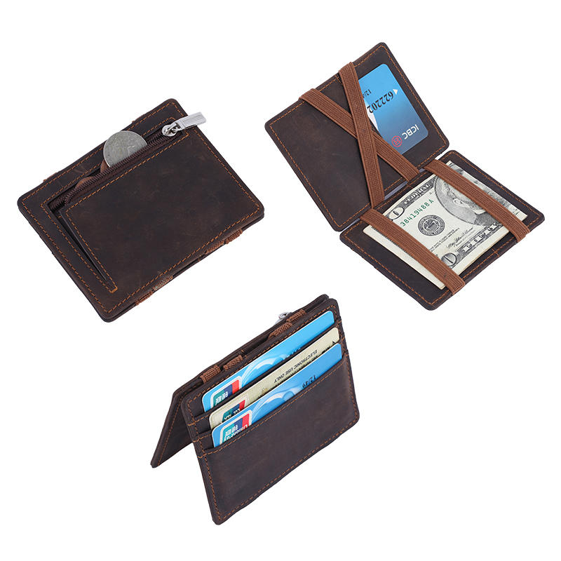 Mens Leather Wallets Wholesale Card Holder Wallet coin pocket Magic Wallet LT-BMW037