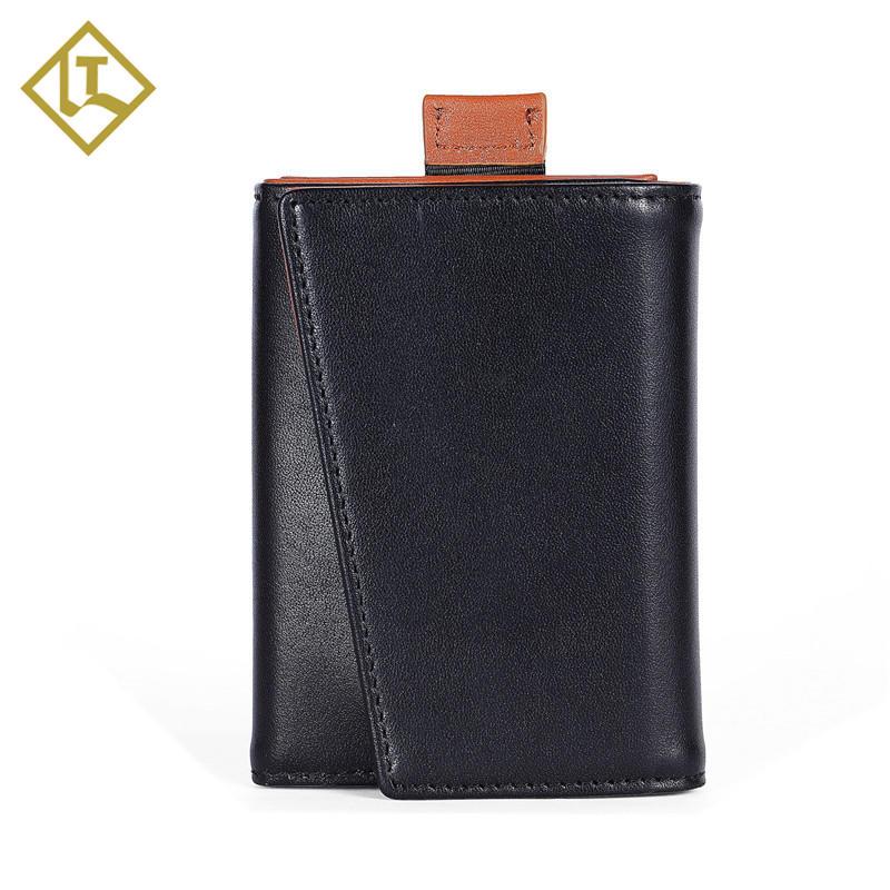 RFID Leather Mens Manufacturer Slim Handmade Leather Wallet LT-BMW049