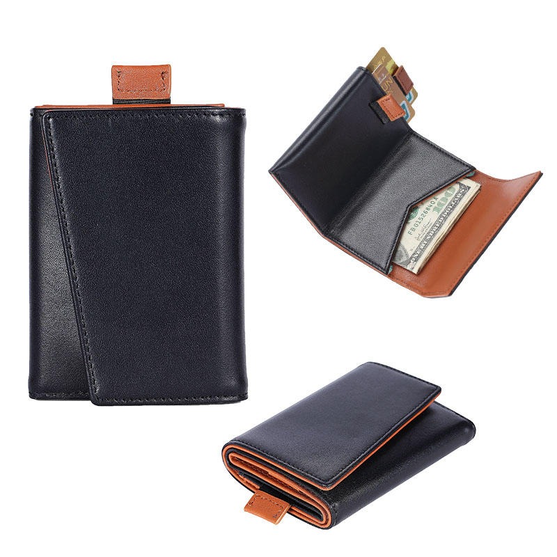 RFID Leather Mens Manufacturer Slim Handmade Leather Wallet LT-BMW049