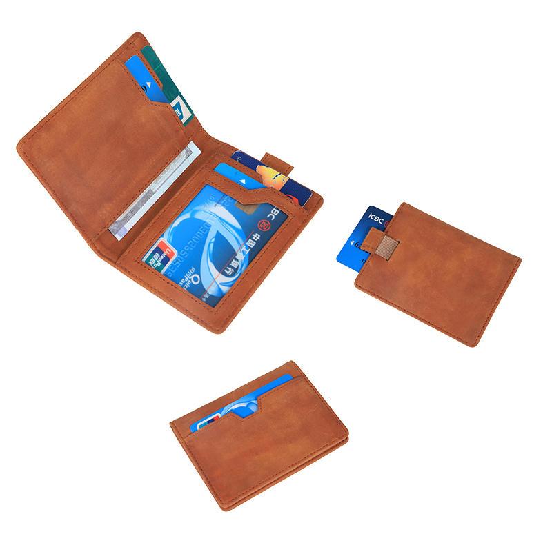 Bifold Travel WalleT for Men Slim Mens leather RFID Blocking Minimalist Card Front Pocket Wallet