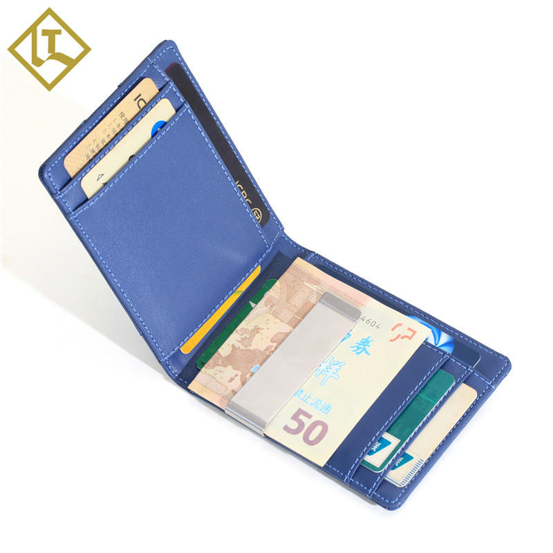 Money Clip Wallet Wholesale leather Wallet With Gift Box LT-BMW077