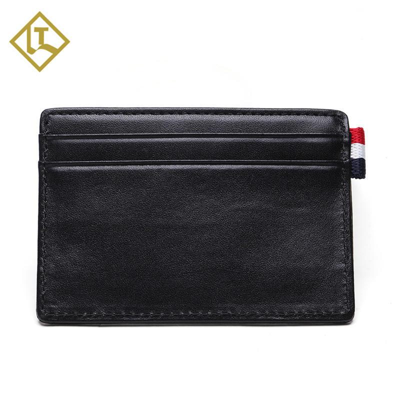 Front Pocket Minimalist Leather Slim Wallet RFID Blocking Medium Size Card Holder Wallet