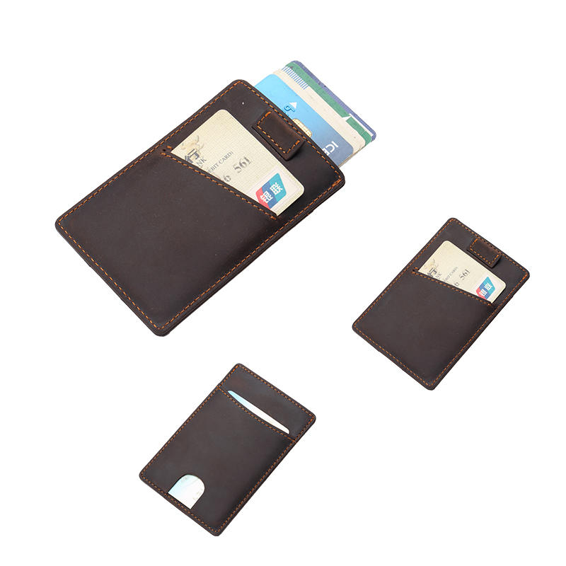 Minimalist Leather Credit Card Holder LT-BMC006