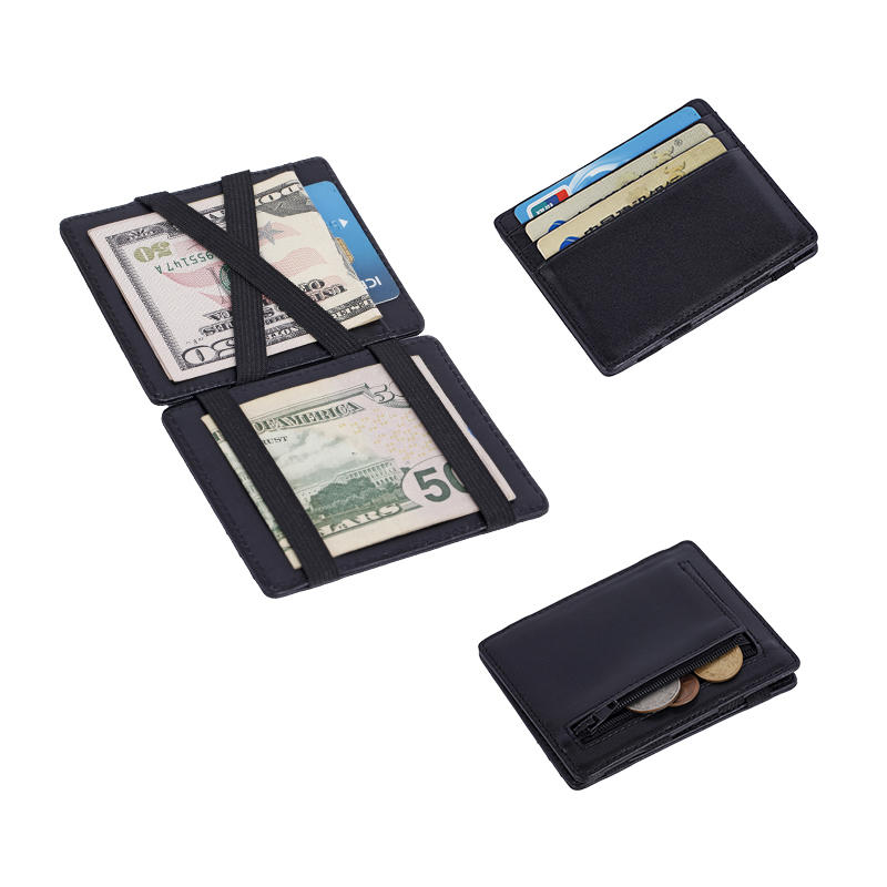 RFID credit ID card holder magic Italian leather wallet  LT-BMW033