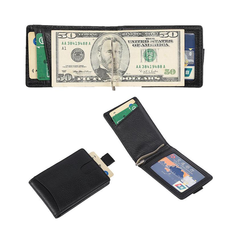 minimalist RFID blocking men's leather travel wallet   LT-BMM025