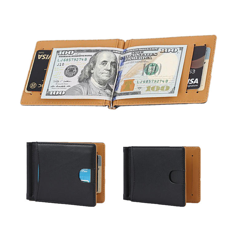 Rfid Leather Wallet Manufacturer customized leather wallet money clip wallet LT-MC003