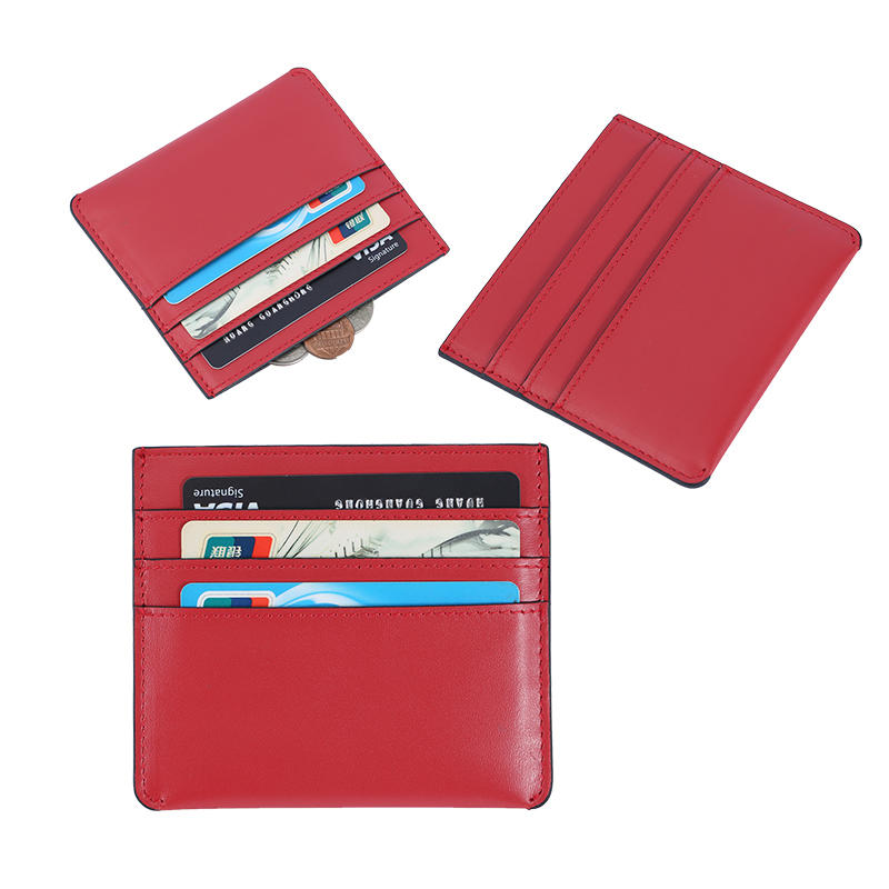 Rfid Leather Wallet Factory Luxury Leather Card Holder Wallet Promotional gifts LT-BMC022