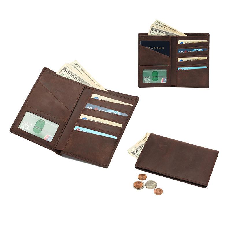 RFID mens leather passport wallet  LT-BMP003