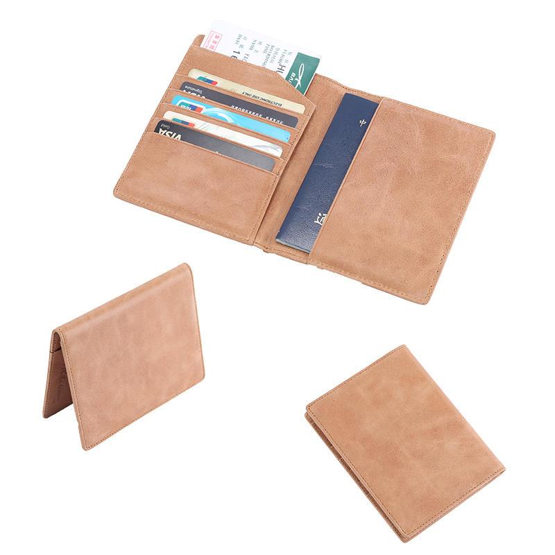 Vintage Style Leather passport case slim mens wallet  LT-BMP006