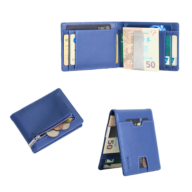 Waterproof leather money clip wallet environmental protection leather credit card holder wallet LT-BMW077