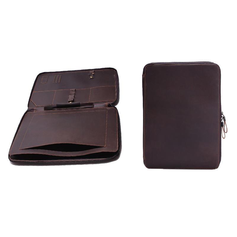 Vintage Leather Laptop Bag Mens Laptop Sleeve Case Leather Bag