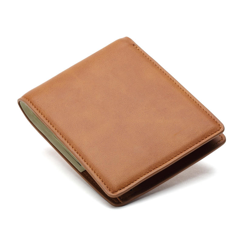 Mens Bifold Wallet Brown Handmade Leather Wallets LT-BMW009