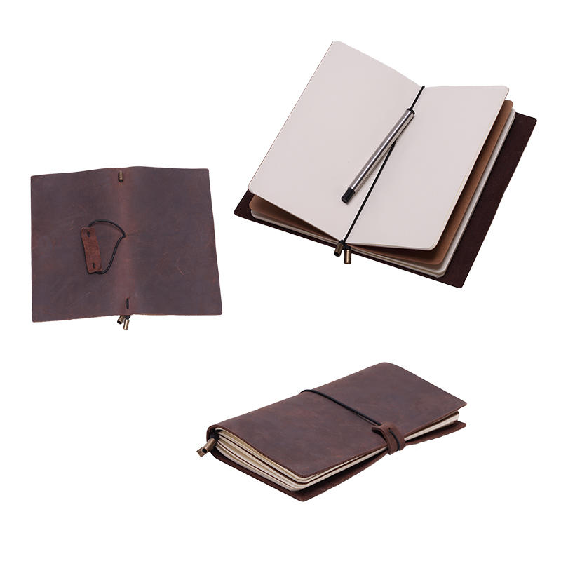 Leather Journal Notebook Refillable Handmade Traveler's Notebook LT-BMW029