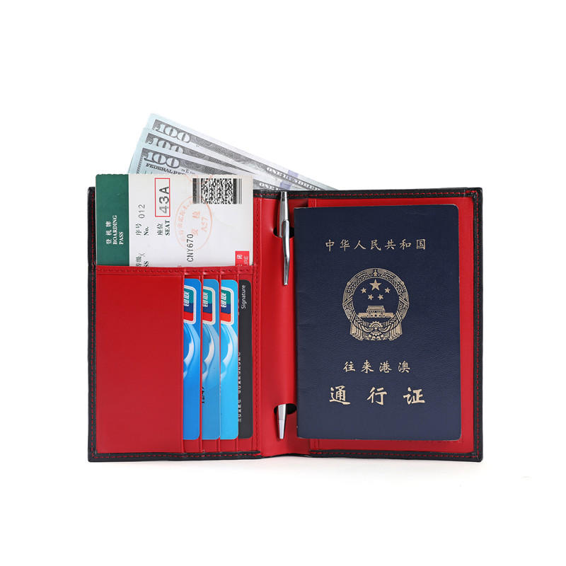 LITONG Brand hot sale leather rfid passport wallet slim supplier