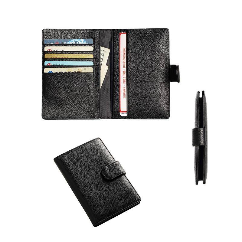 Leather RFID Blocking Passport Holder Cover ID Card Wallet Travel Case Passport Holder Wallet LT-BMP017
