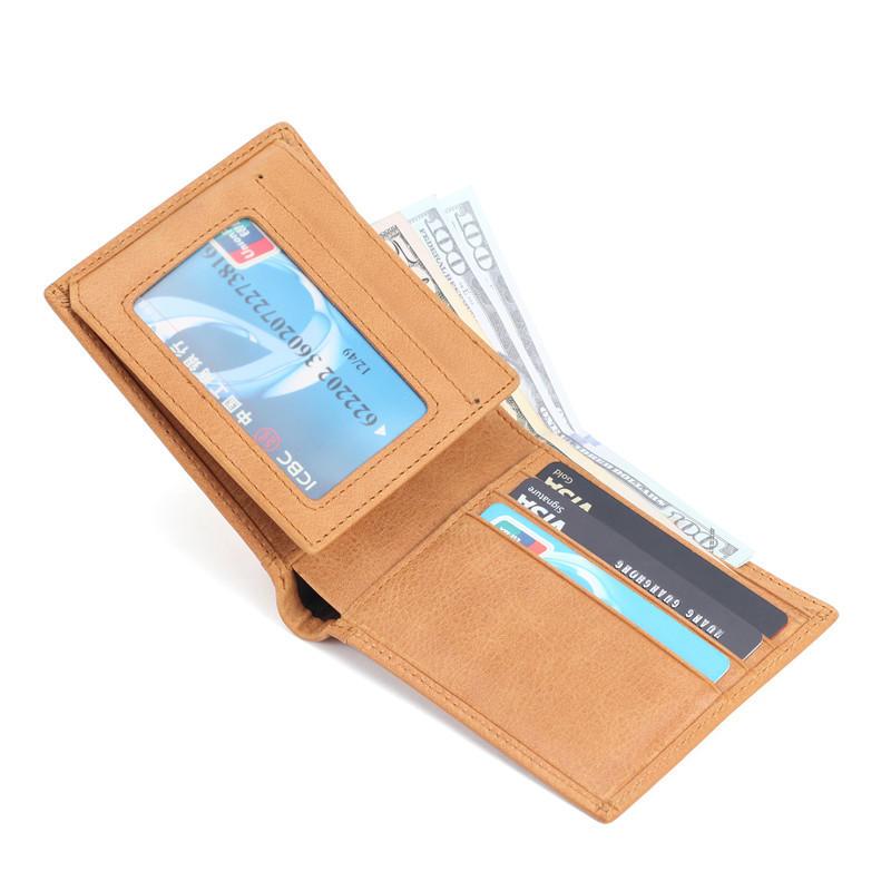 Men's Bifold Wallet RFID Blocking Cowhide Leather Vintage Travel Wallet LT-BMW042
