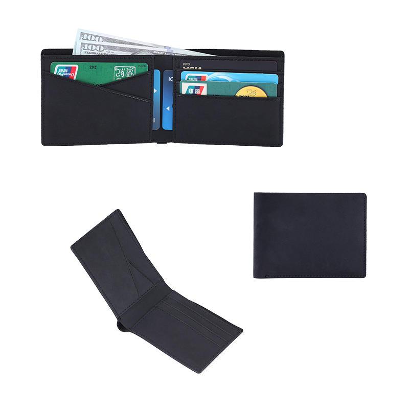Custom RFID protection premium vintage brown crazy horse genuine leather credit card holder wallet LT-BMW059